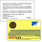 The Phonecard Shop: Comco - Card, Swisslex yellow