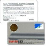 The Phonecard Shop: Switzerland, Comco - Card, Swisslex silver