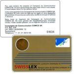 The Phonecard Shop: Switzerland, Comco - Card, Swisslex gold