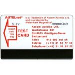 The Phonecard Shop: Autel card Test Card, red wordings, 5 Fr