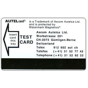 The Phonecard Shop: Switzerland, Autel card Test Card, black wordings