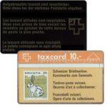 The Phonecard Shop: Switzerland, Swiss stamps, rabbit, 106B, 10 units