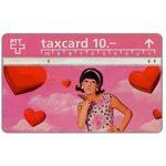The Phonecard Shop: Switzerland, Girl with hearts, 10 units