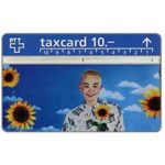 The Phonecard Shop: Switzerland, Boy with sunflowers, 10 units