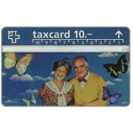 The Phonecard Shop: Switzerland, Old couple with butterflies, 10 units