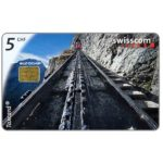 The Phonecard Shop: Train on mountain, 5 CHF
