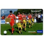 The Phonecard Shop: Switzerland, Football, the trainees, 5 CHF