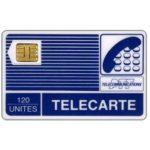 "The Phonecard Shop: France, Definitive ""Pyjamas"", chip SC-3 with frame, short arrow, 120 units"