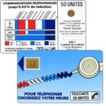 "The Phonecard Shop: Definitive ""Cordons Bleus"", text ""Regie T La publicité sur la telecarte"", ""7"" under blank space, chip SC-3 with frame, 50 units"
