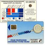 """The Phonecard Shop: France, Definitive """"Cordons Bleus"""", text """"Regie T La publicité sur la telecarte"""", """"7"""" under blank space, chip SC-4on with frame, 50 units"""