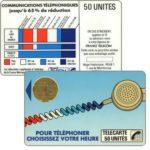 """The Phonecard Shop: France, Definitive """"Cordons Bleus"""", text """"Regie Publicitaire: REGIE T"""", chip BUL-2, 50 units"""