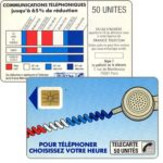 "The Phonecard Shop: Definitive ""Cordons Bleus"", text ""Regie Publicitaire: REGIE T"", chip SO2 with frame, 50 units"