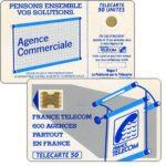 """The Phonecard Shop: France, Definitive """"600 Agences"""", text """"La Publicitè…"""", chip SC-4ob with frame, 50 units"""