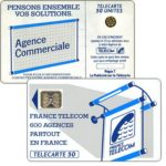 "The Phonecard Shop: Definitive ""600 Agences"", text ""La Publicitè…"", chip SC-4an Ø7 with frame, 50 units"