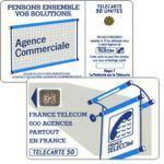 "The Phonecard Shop: Definitive ""600 Agences"", text ""La Publicitè…"", chip SC-4an Ø6 with frame, 50 units"