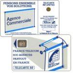 """The Phonecard Shop: France, Definitive """"600 Agences"""", text """"La Publicitè…"""", chip SC-4an Ø6 with frame, 50 units"""