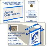 "The Phonecard Shop: Definitive ""600 Agences"", text ""La Communication…"", chip SC-4an Ø6 with frame, 50 units"