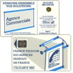 "The Phonecard Shop: Definitive ""600 Agences"", text ""La Publicitè…"", chip SC-4an Ø7 with frame, 120 units"