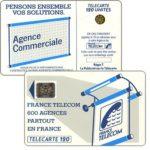 """The Phonecard Shop: France, Definitive """"600 Agences"""", text """"La Publicitè…"""", chip SC-4an Ø7 with frame, 120 units"""