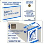 "The Phonecard Shop: Definitive ""600 Agences"", text ""La Communication…"", chip SC-4an Ø6 with frame, 120 units"