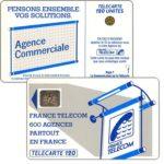 "The Phonecard Shop: France, Definitive ""600 Agences"", text ""La Communication…"", chip SC-4an Ø6 with frame, 120 units"