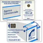 "The Phonecard Shop: Definitive ""600 Agences"", text ""La Publicitè…"", chip SC-5an Ø7 with frame, 50 units"
