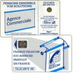 """The Phonecard Shop: France, Definitive """"600 Agences"""", text """"La Publicitè…"""", chip SC-5an Ø7 with frame, 50 units"""