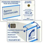 "The Phonecard Shop: Definitive ""600 Agences"", text ""La Publicitè…"", chip SC-5an Ø6 with frame, 50 units"