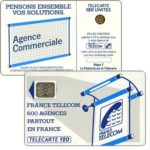 "The Phonecard Shop: Definitive ""600 Agences"", text ""La Publicitè…"", chip SC-5an Ø7 with frame, 120 units"