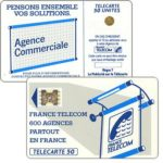 "The Phonecard Shop: Definitive ""600 Agences"", text ""La Publicitè…"", chip SC-4ab Ø6 with frame, 50 units"