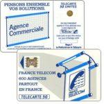 """The Phonecard Shop: France, Definitive """"600 Agences"""", text """"La Publicitè…"""", chip SC-4ab Ø6 with frame, 50 units"""
