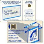 """The Phonecard Shop: France, Definitive """"600 Agences"""", text """"""""La Publicitè…"""", chip SC-5ab Ø7 with frame, 120 units"""