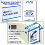"The Phonecard Shop: Definitive ""600 Agences"", text ""La Communication…"", chip SC-6 without frame, 50 units"