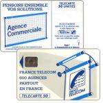 "The Phonecard Shop: France, Definitive ""600 Agences"", text ""La Communication…"", chip SC-6 without frame, 50 units"