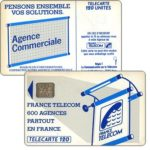 "The Phonecard Shop: Definitive ""600 Agences"", text ""La Communication…"", chip SC-6 without frame, 120 units"