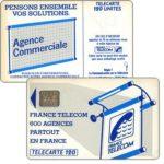 "The Phonecard Shop: France, Definitive ""600 Agences"", text ""La Communication…"", chip SC-6 without frame, 120 units"