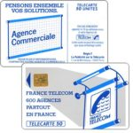 "The Phonecard Shop: Definitive ""600 Agences"", text ""La Publicitè…"", chip SO2, 50 units"