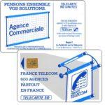 """The Phonecard Shop: France, Definitive """"600 Agences"""", text """"La Publicitè…"""", chip SO2, 50 units"""