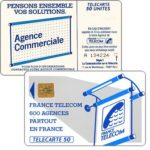 "The Phonecard Shop: Definitive ""600 Agences"", text ""La Communication…"", chip SO2, 50 units"