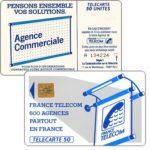 "The Phonecard Shop: France, Definitive ""600 Agences"", text ""La Communication…"", chip SO2, 50 units"