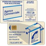 "The Phonecard Shop: Definitive ""600 Agences"", text ""La Communication…"", chip SO3, 50 units"