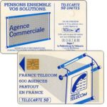 "The Phonecard Shop: Definitive ""600 Agences"", text ""La Publicitè…"", chip GEM1, 50 units"