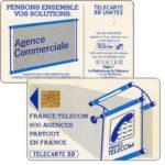 """The Phonecard Shop: France, Definitive """"600 Agences"""", text """"La Publicitè…"""", chip GEM1, 50 units"""