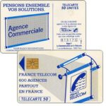 "The Phonecard Shop: Definitive ""600 Agences"", text ""La Communication…"", chip GEM1, 50 units"
