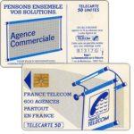 """The Phonecard Shop: France, Definitive """"600 Agences"""", text """"La Communication…"""", chip GEM1, 50 units"""
