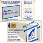 "The Phonecard Shop: Definitive ""600 Agences"", text ""La Publicitè…"", chip GEM1, 120 units"