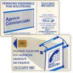 """The Phonecard Shop: France, Definitive """"600 Agences"""", text """"La Publicitè…"""", chip GEM1, 120 units"""