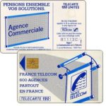 "The Phonecard Shop: Definitive ""600 Agences"", text ""La Communication…"", chip GEM1, 120 units"