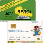 The Phonecard Shop: France, SNCF - TER, used on board of trains, with number