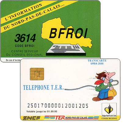 The Phonecard Shop: SNCF - TER, used on board of trains, with number